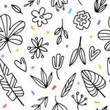 Teste padrão sem emenda do fundo com floral gráfico ilustração royalty free