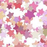 Teste padrão sem emenda do fundo da estrela - o projeto do vetor do pentagram arredondado protagoniza em tons coloridos com efeit Fotos de Stock
