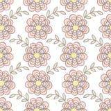 Teste padrão sem emenda do fundo da flor Fotos de Stock Royalty Free