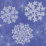 Teste padrão sem emenda do fundo da flor abstrata Fotos de Stock Royalty Free