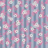Teste padrão sem emenda do fundo da flor abstrata Foto de Stock Royalty Free