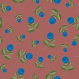 Teste padrão sem emenda do fundo da uva-do-monte Foto de Stock Royalty Free