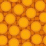 Teste padrão sem emenda do fundo do biscoito redondo Fotografia de Stock