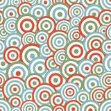 Teste padrão sem emenda do fundo do círculo abstrato Fotos de Stock