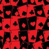 Teste padrão sem emenda do fundo dos cartões de jogo Imagens de Stock