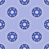 Teste padrão sem emenda do fundo dos feriados de inverno Formas circulares azuis Imagens de Stock