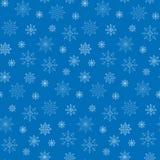 Teste padrão sem emenda do fundo dos flocos da neve do inverno Imagem de Stock