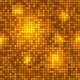 Teste padrão sem emenda do fundo dourado do disco. Fotografia de Stock Royalty Free