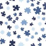 Teste padrão sem emenda do fundo do enigma colorido Ilustração do vetor isolada no fundo branco foto de stock royalty free