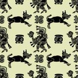 Teste padrão sem emenda do fundo no estilo do Maya ilustração royalty free