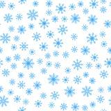 Teste padrão sem emenda do fundo do vetor dos flocos de neve do inverno fotos de stock royalty free