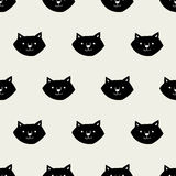 Teste padrão sem emenda do gato Imagem de Stock