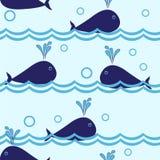 Teste padrão sem emenda do golfinho ilustração royalty free
