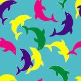 Teste padrão sem emenda do golfinho ilustração do vetor