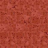 Teste padrão sem emenda do grunge da textura vermelha e marrom da telha quadrada do granito, vetor ilustração stock