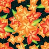 Teste padrão sem emenda do grupo brilhante da flor ilustração do vetor