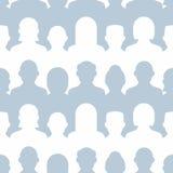 Teste padrão sem emenda do grupo de pessoas Fotografia de Stock