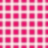 Teste padrão sem emenda do guingão cor-de-rosa, ilustração do vetor Imagens de Stock Royalty Free