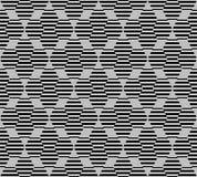 Teste padrão sem emenda do hexágono com linhas Fotografia de Stock