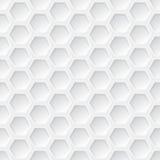 Teste padrão sem emenda do hexágono 3d branco Fotografia de Stock Royalty Free