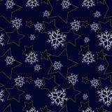 Teste padrão sem emenda do inverno Imagens de Stock