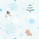 Teste padrão sem emenda do inverno ilustração stock