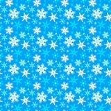 Teste padrão sem emenda do inverno com flocos de neve ilustração do vetor