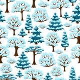 Teste padrão sem emenda do inverno com o sumário estilizado Foto de Stock
