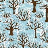 Teste padrão sem emenda do inverno com o sumário estilizado Fotografia de Stock Royalty Free
