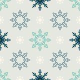 Teste padrão sem emenda do inverno do floco de neve Imagem de Stock