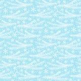 Teste padrão sem emenda do inverno Luz - fundo azul do feriado Vetor Imagem de Stock Royalty Free