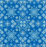 Teste padrão sem emenda do inverno Ponto transversal Ornamento do vetor fotos de stock
