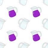 Teste padrão sem emenda do jarro da água & do vinho Imagem de Stock Royalty Free