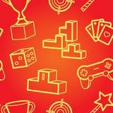Teste padrão sem emenda do jogo Imagem de Stock Royalty Free