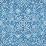 Teste padrão sem emenda do laço dos flocos de neve Ano novo, Natal, inverno ilustração royalty free