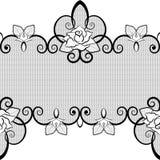 Teste padrão sem emenda do laço preto com as rosas no fundo branco Imagens de Stock