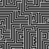 Teste padrão sem emenda do labirinto Imagens de Stock Royalty Free