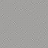 Teste padrão sem emenda do labirinto ilustração do vetor
