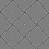 Teste padrão sem emenda do labirinto do vetor Fotos de Stock Royalty Free