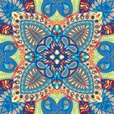 Teste padrão sem emenda do lenço de paisley da Índia, matéria têxtil decorativa, envolvendo, decoração Projeto boêmio Fotografia de Stock Royalty Free