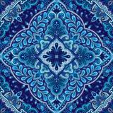 Teste padrão sem emenda do lenço do quadrado do vetor de Paisley Imagens de Stock Royalty Free