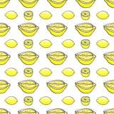 Teste padrão sem emenda do limão Fotos de Stock Royalty Free