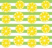Teste padrão sem emenda do limão com listras verdes Imagem de Stock Royalty Free