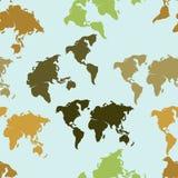 Teste padrão sem emenda do mapa Imagens de Stock Royalty Free