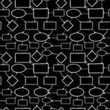 Teste padrão sem emenda do mapa de mente do giz de quadro-negro Fotos de Stock Royalty Free