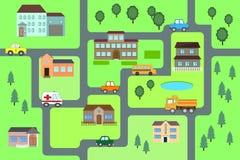 Teste padrão sem emenda do mapa dos desenhos animados ilustração royalty free