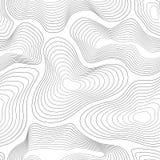 Teste padrão sem emenda do mapa topográfico Ilustração do fundo do vetor ilustração stock
