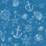 Teste padrão sem emenda do mar ilustração do vetor