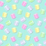 Teste padrão sem emenda do marshmallow - parte traseira do verde ilustração do vetor