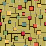 Teste padrão sem emenda do microchip ilustração do vetor